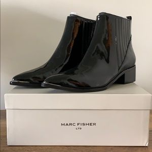 NEW Patent Leather Marc Fisher Pointed Ankle Boots